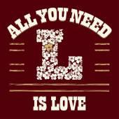 Love t-shirt — Stock Vector