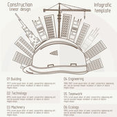 Construction linear design — Stock Vector