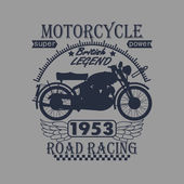 Motorcycle Racing Typography Graphics Label. T-shirt Design — Stock Photo