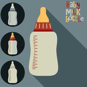 Vector Baby milk bottle — Stock Vector