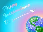 Illustration independence day — Stok Vektör