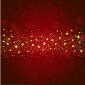 Wonderful gold glitter stars — Stock Vector