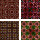 Multicolor seamless mosaic background set — Cтоковый вектор