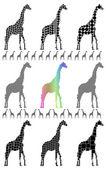 Giraffe silhouettes — Stock Vector