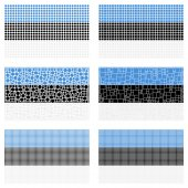 Mosaic Estonia  flag set — Stockvektor
