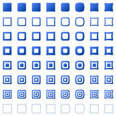 Square set — Stock Vector