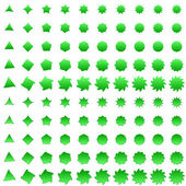 Green deformed polygon shape collection — Stock Vector