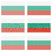 Mosaic Bulgaria  flag set — Stock Vector
