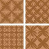 Brown seamless pattern wallpaper set — Stock vektor