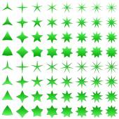 Green star shape collection — Stock Vector