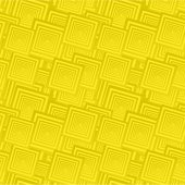 Yellow seamless square pattern background — Stock Vector
