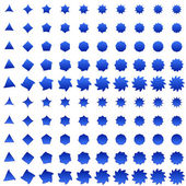 Blue deformed polygon shape collection — Stock Vector