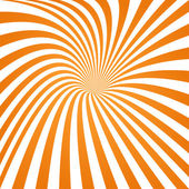 Orange striped spiral hole background — Stock Vector