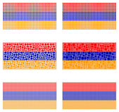 Mosaic Armenia  flag set — Stock Vector