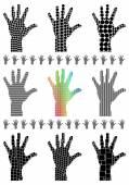 Hand siluett — Stockvektor
