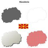 Macedonia outline map set — Stock Vector