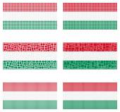Mosaic Hungary flag set — Stock Vector