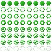Hexagon set — Stock Vector