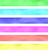 Colored banner background set — Stock Vector