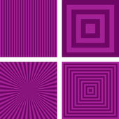 Purple simple striped pattern set — Stock Vector