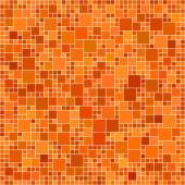 Orange square mosaic background — Stock Vector