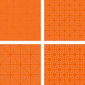 Seamless orange triangle pattern set — Stock Vector