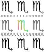 Symbol of Scorpio — Stok Vektör