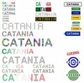 Catania text design set — Stock Vector