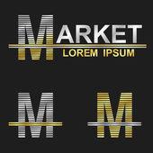 Letter M (market) — Stock Vector
