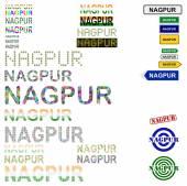 Nagpur text design set — Vecteur