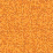 Orange pixel mosaic background — Stock Vector