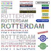 Rotterdam text design set — Vector de stock