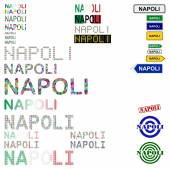 Napoli (Naples) text design set — Stock Vector