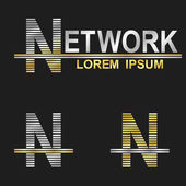 Letter N (network) — Stock Vector