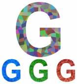 Mosaic font design - letter G — Vecteur