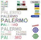 Palermo text design set — Vecteur