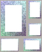 Blue with Purple gradient pixel mosaic — Stok Vektör