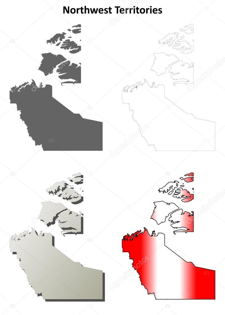 西北地区空白矢量轮廓地图集