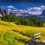 Pizes de Cir ridge and Sassolungo (Langkofel) mountain — Stock Photo #53807651