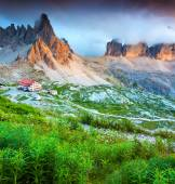 Colorful summer evening in Italy Alps — Stock Photo