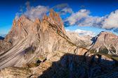 Ferchetta mountain range at sunny summer day day. — Stock Photo