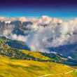 Morning on the Val Gardena valley — Stock Photo #56308669