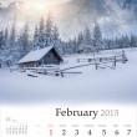 2015 Calendar. February. — Zdjęcie stockowe #56309277