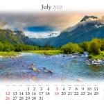 Calendar 2015. July — Stock fotografie #56309587