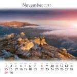 2015 Calendar. November. — Stock Photo #56309747
