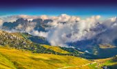 Morning on the Val Gardena valley — Stock Photo