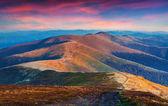 Sunset in the mountain ridge — Foto de Stock