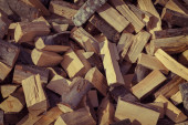 Firewood background — Stock Photo