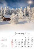 Calendar 2015 . January. — Stock Photo