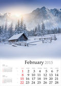 2015 Calendar. February. — Stock Photo